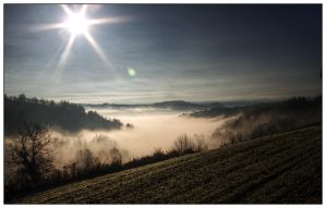 Foggy valley by mauromago