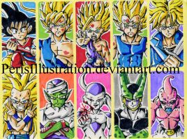 Dragon Ball Stickers by PerisIllustration