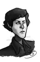 Painting Practice- Sherlock by SharpAce