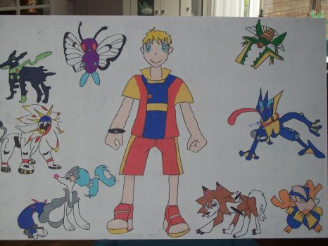 me and my pokemon team in pokemon sun by pokedrogon