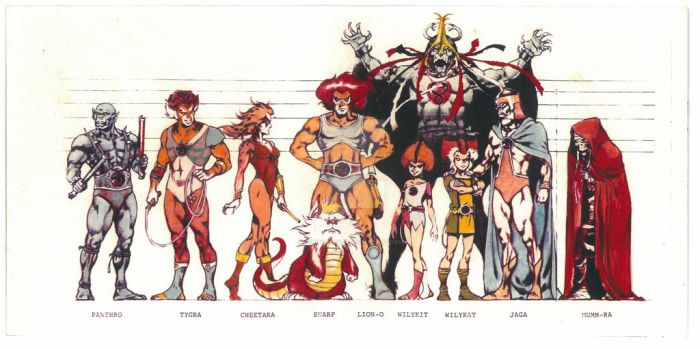 Police line up ThunderCats by Curious4ever