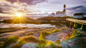 Norway - Tranoy Lighthouse Hamaroy by Binary-Map