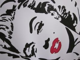 Marilyn's Lips by 3rdwoman