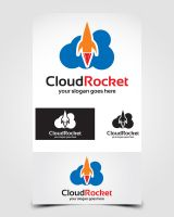 Cloud Rocket Logo by pascreative