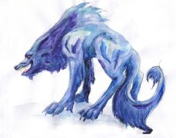 Blue Ice Jackal by PolnochsArt