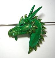 Green Dragon Pendant by eerok1955