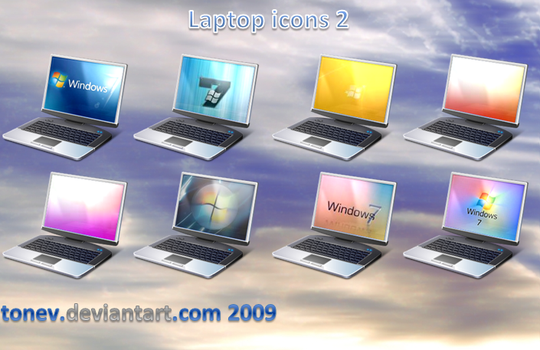 Laptop icons 2 by tonev
