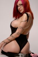 Ariane St Amour Black cat by Spandexqueens