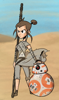 Star Wars: Rey and BB-8 by totalnonsense89