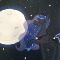 Princess of the Night Painting by stimpyrules