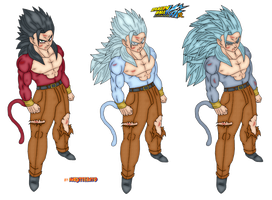 color gohan damaged ssj4-5 by Naruttebayo67