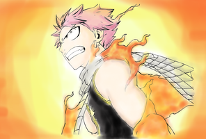 Natsu dragneel in sketchbook pro by fishsticks213