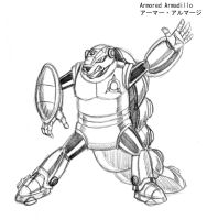 Armored Armadillo (Full Body) by MDTartist83