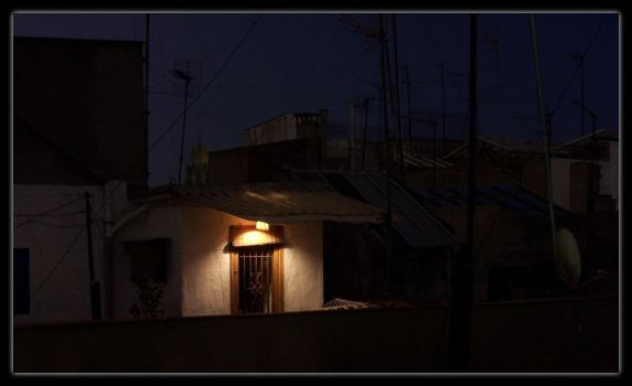 Rooftop House and Light by mattshaw