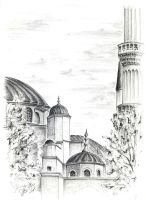 blue mosque sketch by theDeathspell