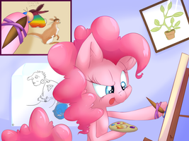 Pinkie Pie the ARTIST by lilfaux