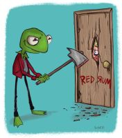 All Work and No Play Makes Kermit A Dull Boy by JeffVictor