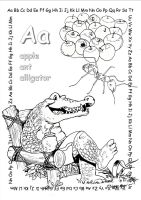 alphabet coloring pages Aa copy by jbeverlygreene