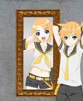 Rin and Len by Silversoul99