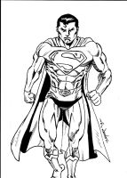 CLASSIC SUPERMAN WARM-UP SKETCH by FanBoy67