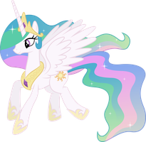 Princess Celestia Flying (3) by 90Sigma