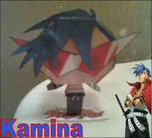 Chibi Kamina Papercraft Finished by rubenimus21