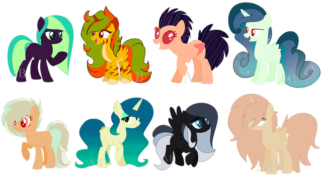(7/8 Open!) Adopt Batch #2 by AdoptblePonies