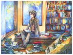 Commission - Library by namirenn