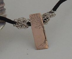 Winter tree pendant by entanglement