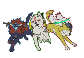 Okami Trio by icedragon17