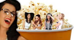 Shrunk Ariana Grande, and Friends stuck in popcorn by randomstuff126