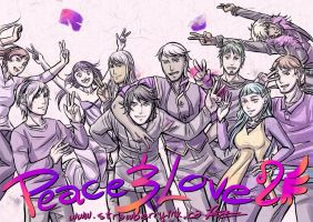 Spirit Day Love, Peace, Purple by Meibatsu