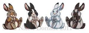 Bunny Stickers by thornwolf