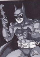 Sketch Card #22 - Batman by destinyhelix