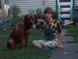 My doggy that died Copper :'( / And my bro David by Agranholm