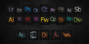 Dark Adobe icons by azot4o