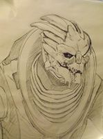 Garrus Pen Sketch by Nighthawk42