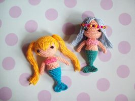 Amigurumi Mermaids by oddSpaceball