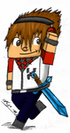 .::Minecraft Char Acartoonada Colored::. by hdfca177
