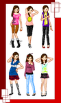 Some of my outfits by koriendar