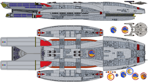 BSG 75 and NX-01 War refits by TheFreighTrain