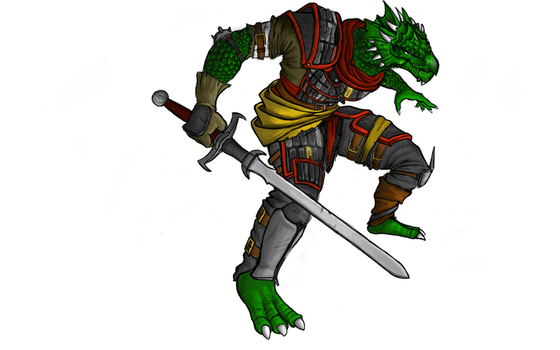 Dragonborn Commission - Colored by ZillegasArt