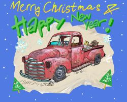 Chevy 47 Christmas card by Roberto67