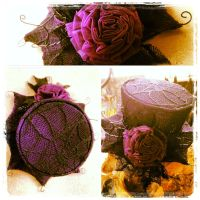 WIP Purple Halloween Mini Hat Fascinator by Elorhan