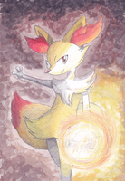 Braixen by PitchBlackEspresso