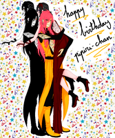 happy birthday pipiri-chaan by oOLittlePinkyOo