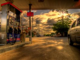 Waiting At The Gas Station by JohnKyo