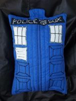 TARDIS cushion by Vangi