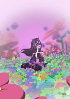 Huntress in the Flowers by tran4of3