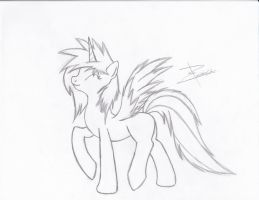 Thunder Flare ( Flaire) OC by Xeirla